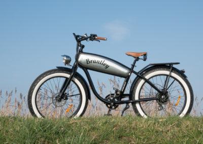 Retro Electric Fatbike Brantley Black-Zilver - by Fatbikes4fun.nL