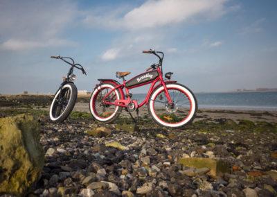 Retro Electric Fatbikes Brantley Black & Red - by Fatbikes4fun.nL