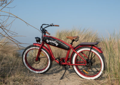 Retro Electric Fatbikes Brantley Red - by Fatbikes4fun.nL